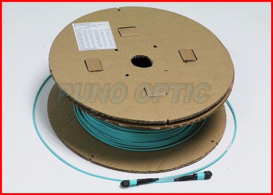 China 24F Straight A MTP Fiber Optic Cable , MTP Trunk Cable Multimode OM3 factory