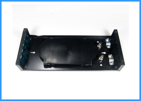 China 12 Cores Black Fiber Optic Termination Box with FC APC Adapter ODF Assembly factory