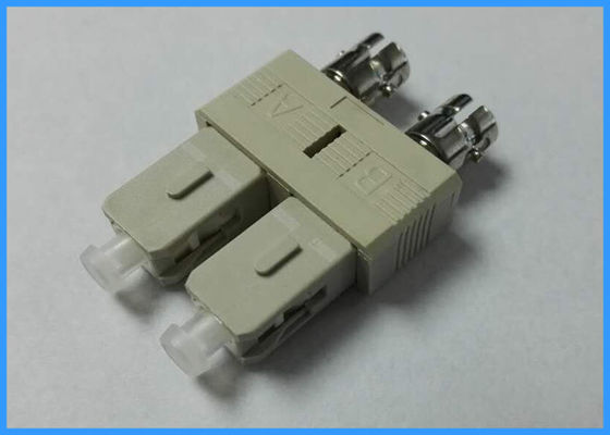 Duplex Plastic Fiber Optic Adapters LC / UPC Female to SC / UPC Male